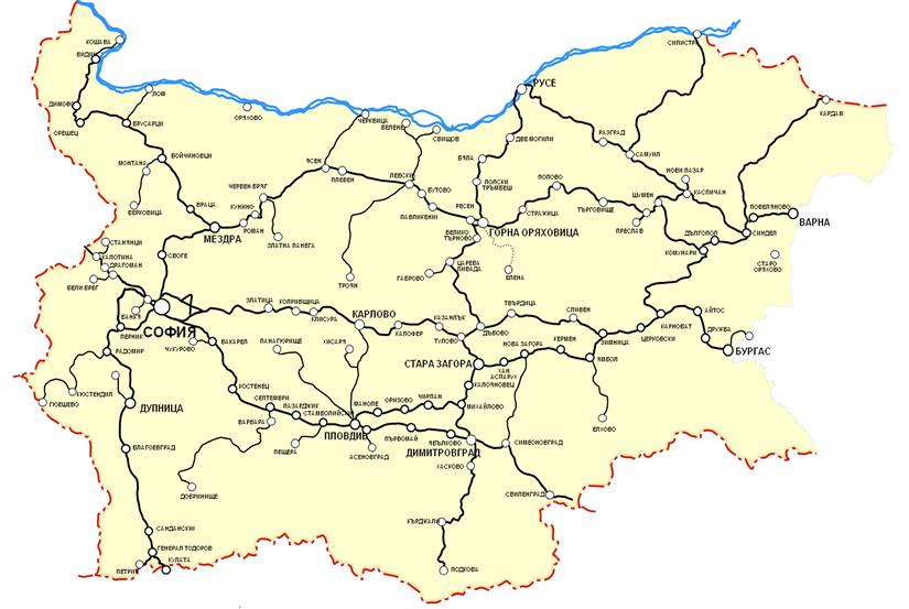 Lloko Karta Na Zhp Liniite V Blgariya
